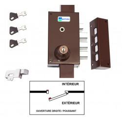 Serrure 3 Points MOTTURA 448 A2P1* ETOILE MARRON Avec Pêne Inversé ( monté ) 3 clés