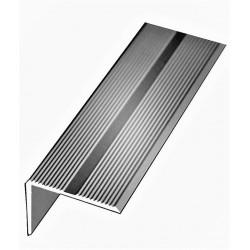 Nez de Marche aluminium anodisé argent 42 mm x 22 mm