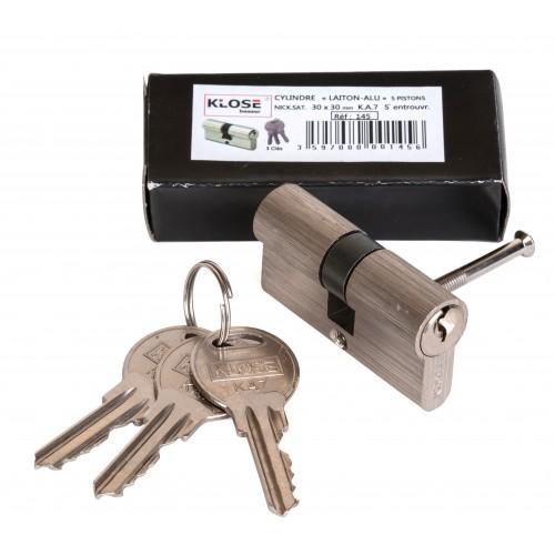 Cylindre chantiner alu-laiton clés variées