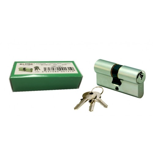 Cylindre clé variées Laiton nickelé