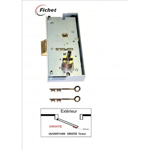 FICHET - Boitier PSS Multiplex EZ à Droite. 2 clés -(V01). Réf: 70848803.