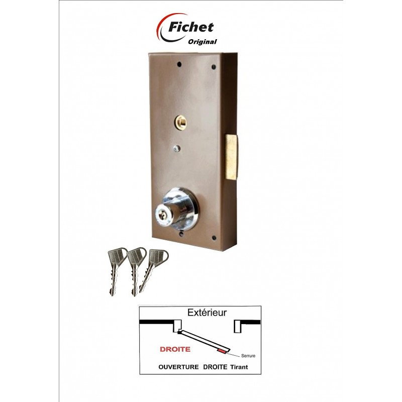 FICHET Original - Boitier 690 - Droite. 3 clés .