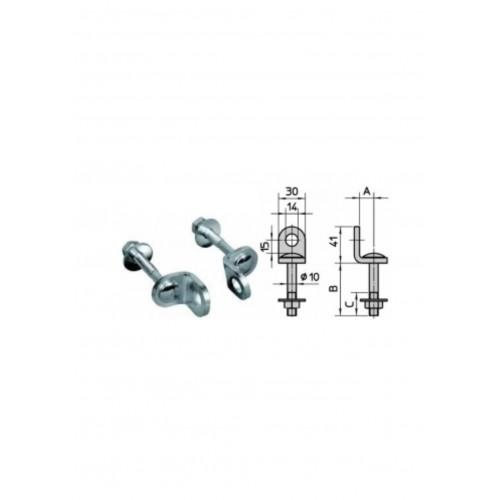 VIRO - Attache pour rideau . 2 anneaux . Code 313 0694