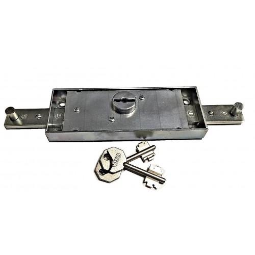 VIRO - Serrure de Rideau Roulant 156 X 56 mm Double Panneton . Code 322 2201